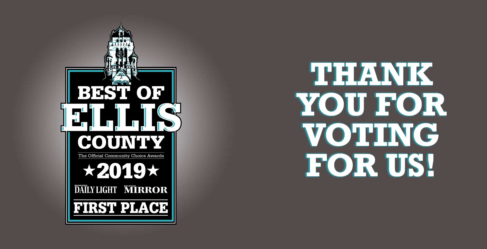 logo for Best of Ellis County Community Choice Winner with thank you message